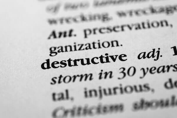 Dictionary Entry for Destructive